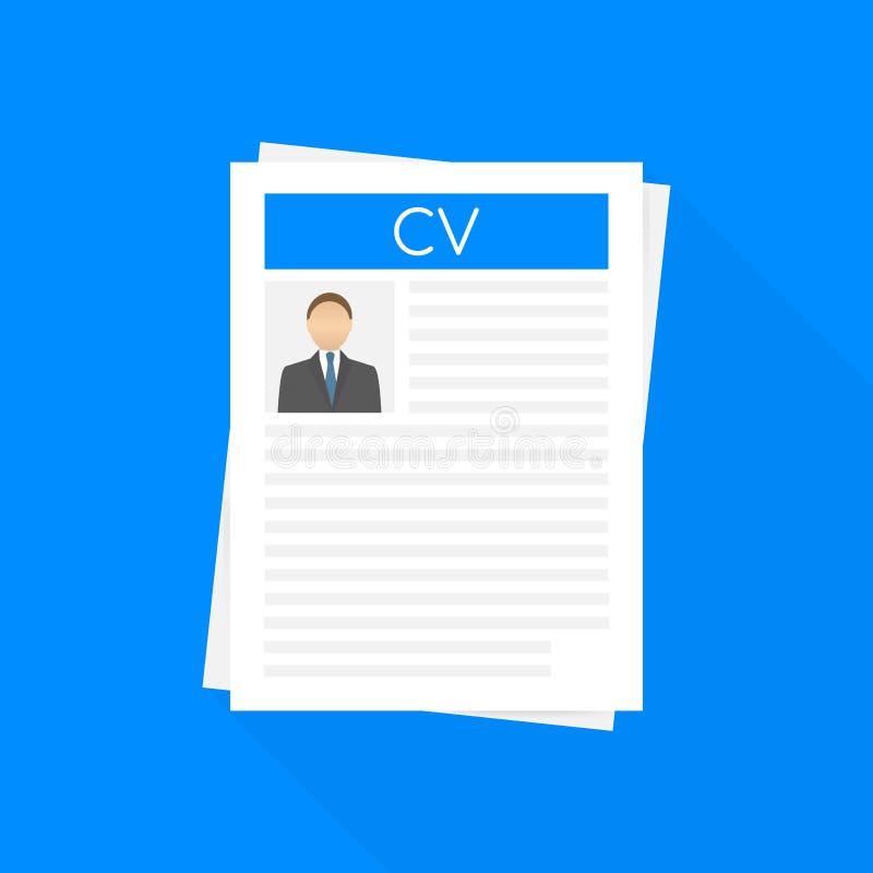 Résumé de cv Concept d'entrevue d'emploi Emploi, concepts de location Conception plate moderne pour des bannières de Web, sites W illustration de vecteur