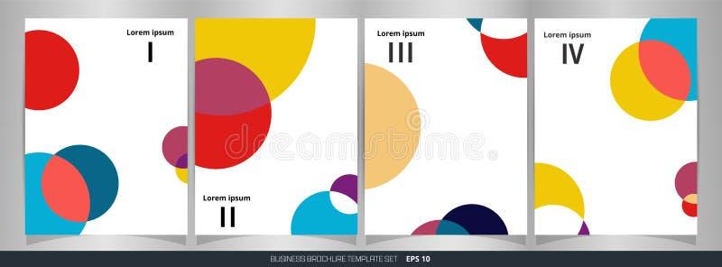 Résumé de fond réglé de cercle de brochure colorée de modèle illustration de vecteur