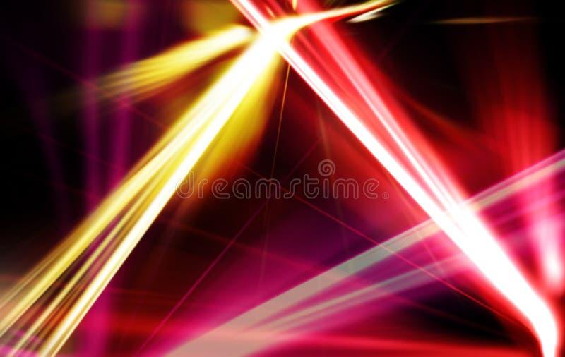 Résumé de ligne colorée numérique de laser de lumière images stock