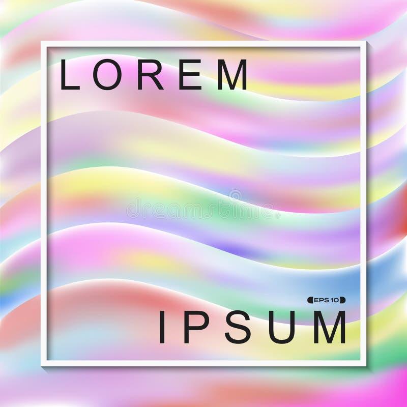 Résumé du fond liquide de modèle de vagues de couleur d'arc-en-ciel illustration libre de droits