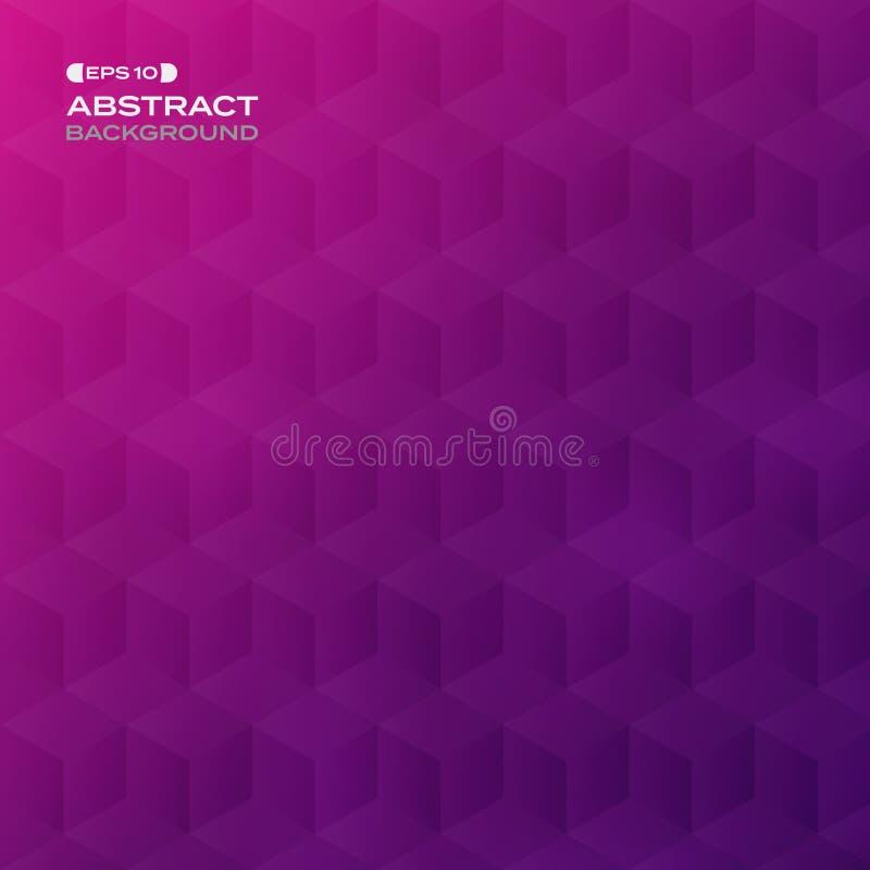 Résumé du fond violet avec du Ba géométrique de modèle de pentagone illustration de vecteur