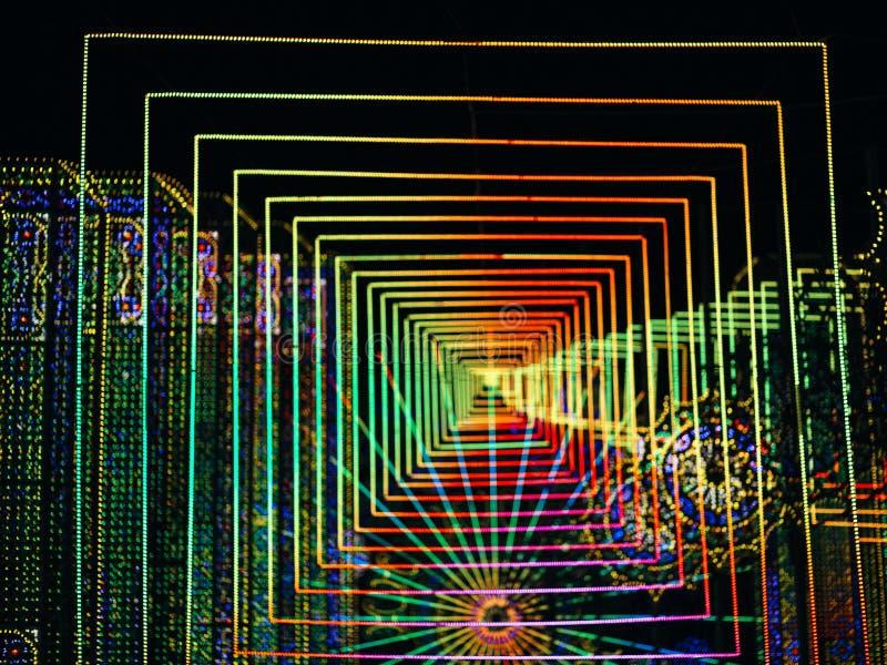 Résumé et fond mené multicolore futuriste de lumières photos libres de droits