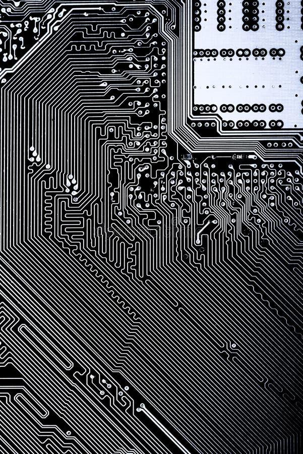 Résumé, fin de fond d'ordinateur électronique de Mainboard panneau de logique, carte mère d'unité centrale de traitement, conseil images libres de droits
