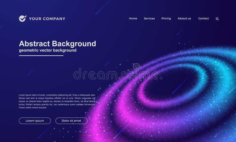 Résumé, fond dynamique pour votre page de débarquement ou conception de page Web illustration libre de droits