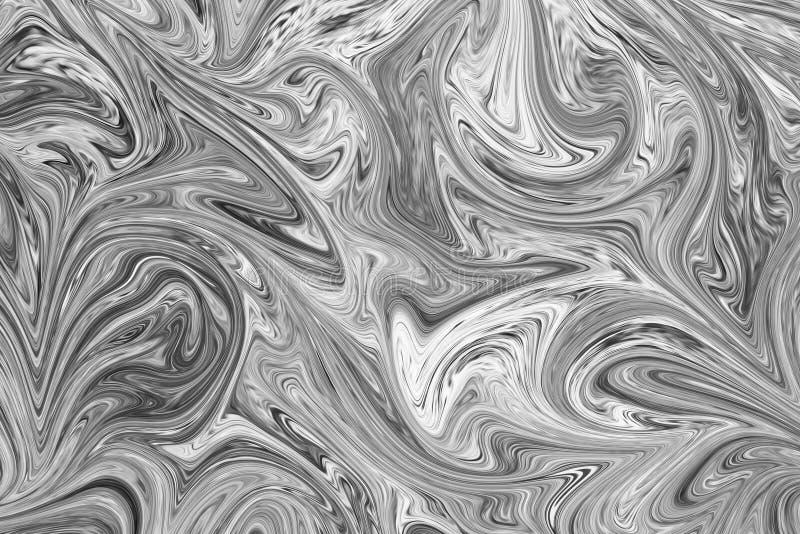 Résumé Gray Black et fond de marbre blanc de modèle d'encre Liquéfiez le modèle abstrait avec le noir, blanc, Grey Graphics Color illustration stock