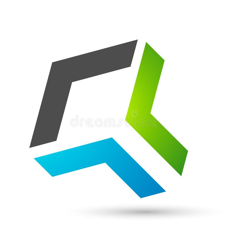 Résumé Logo, clé de succès sur la conception du logo Corporate Invest Business Logo de Financial Investment illustration de vecteur
