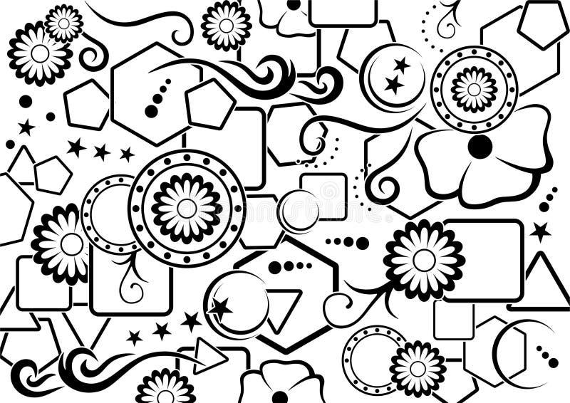 Résumé noir et blanc comme fond simple illustration stock