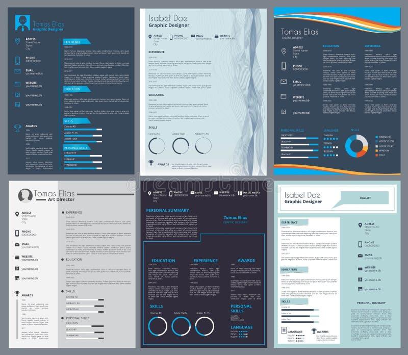 Résumé ou curriculum vitae Calibre de conception avec l'endroit pour votre texte illustration de vecteur