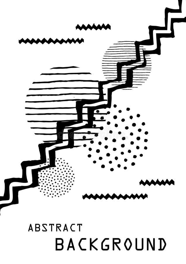 Résumé peint Art Background pour la disposition de calibre de brochure illustration de vecteur