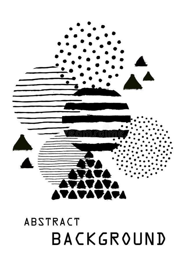 Résumé peint Art Background pour la disposition de calibre de brochure illustration stock