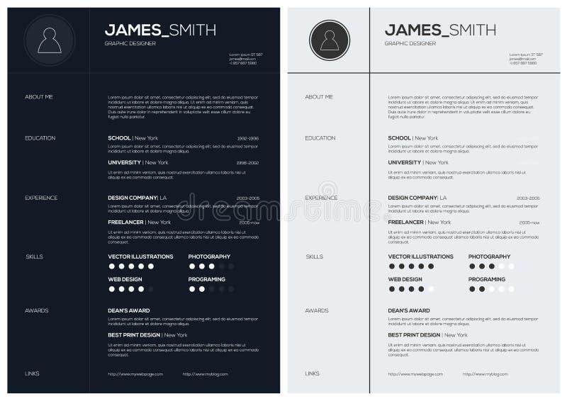 Résumé plat avec Infographics et chronologie illustration de vecteur