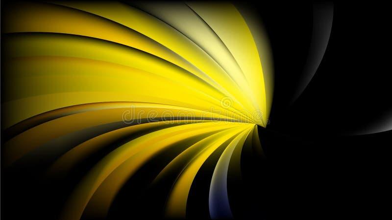Résumé Raies spirales torsadées noires et jaunes Conception de fond illustration de vecteur