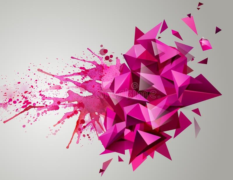 Résumé rose géométrique illustration de vecteur