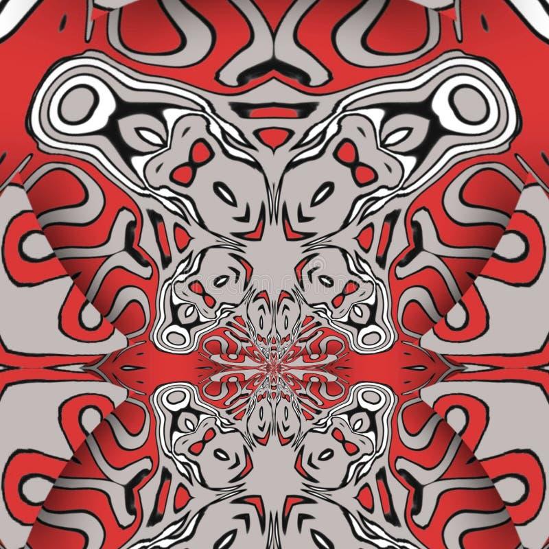 Résumé rouge et formes d'art numériques illustration de vecteur
