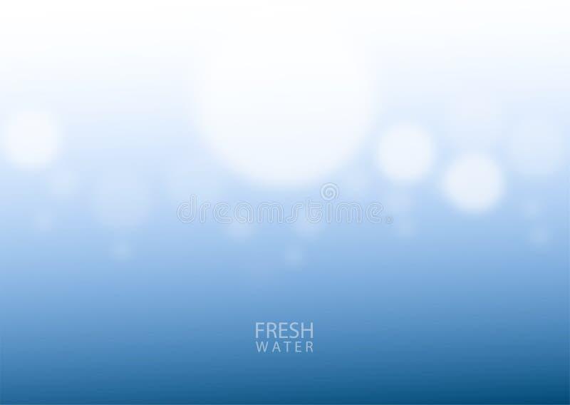 Résumé sous la mer bleue profonde de l'eau illustration stock