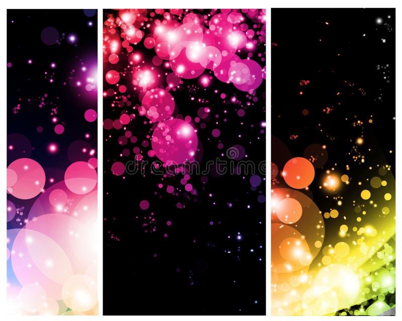 Résumés colorés lumineux illustration stock