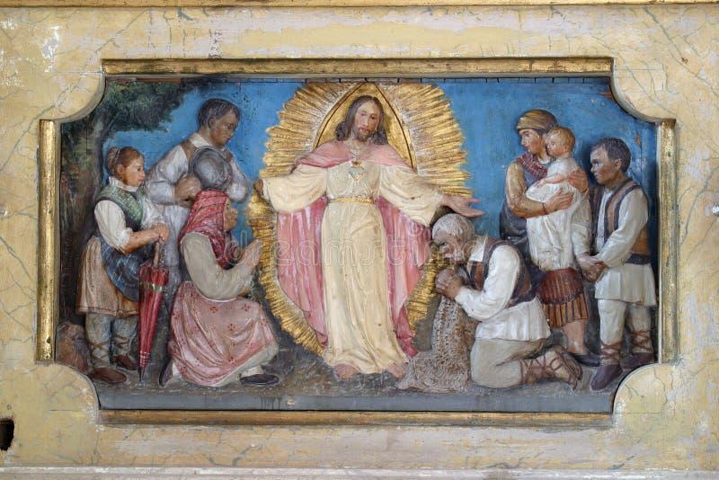 Résurrection de Jésus image libre de droits