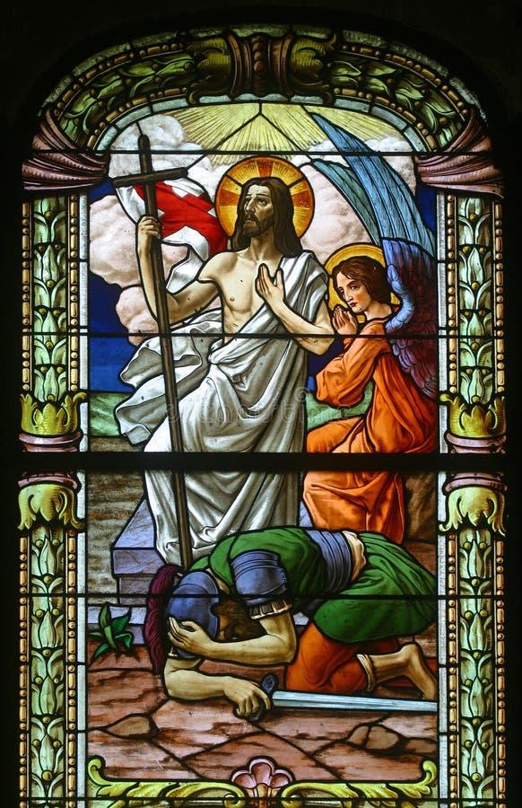 Résurrection de Jésus photo stock