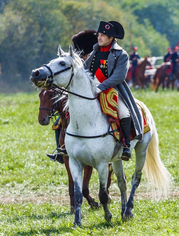 Rétablissement de la bataille de Borodino entre le Russe photos libres de droits