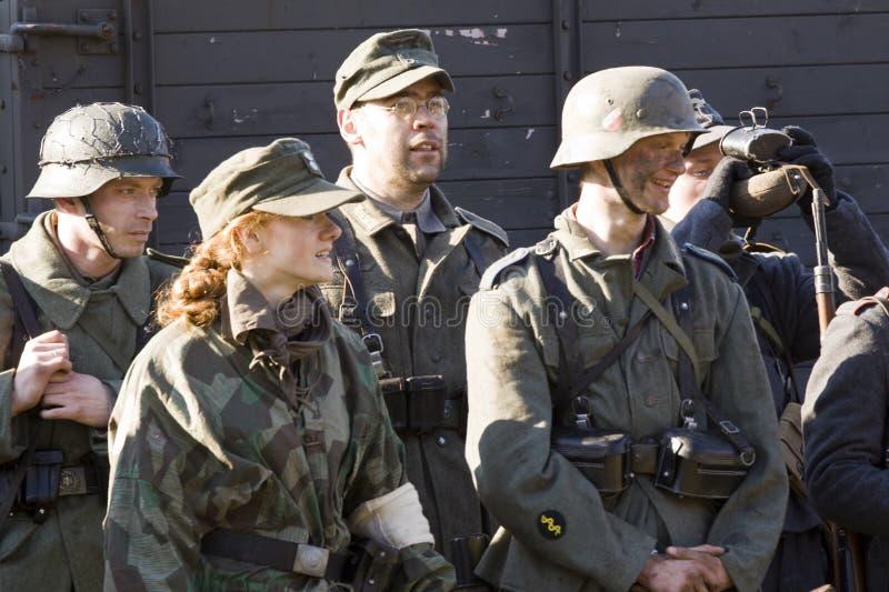 Rétablissement de la bataille de la deuxième guerre mondiale photo stock