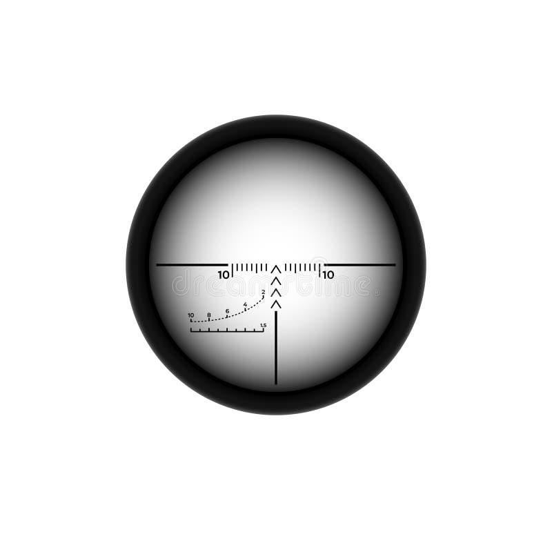 Réticules de portée de tireur isolé illustration de vecteur