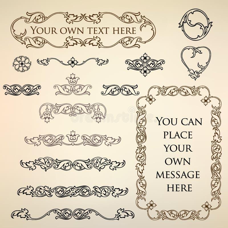 Rétro éléments calligraphiques de conception illustration libre de droits