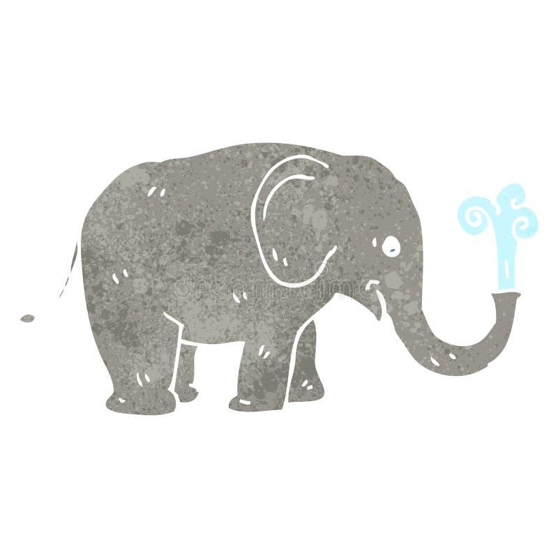 rétro éléphant de bande dessinée illustration libre de droits