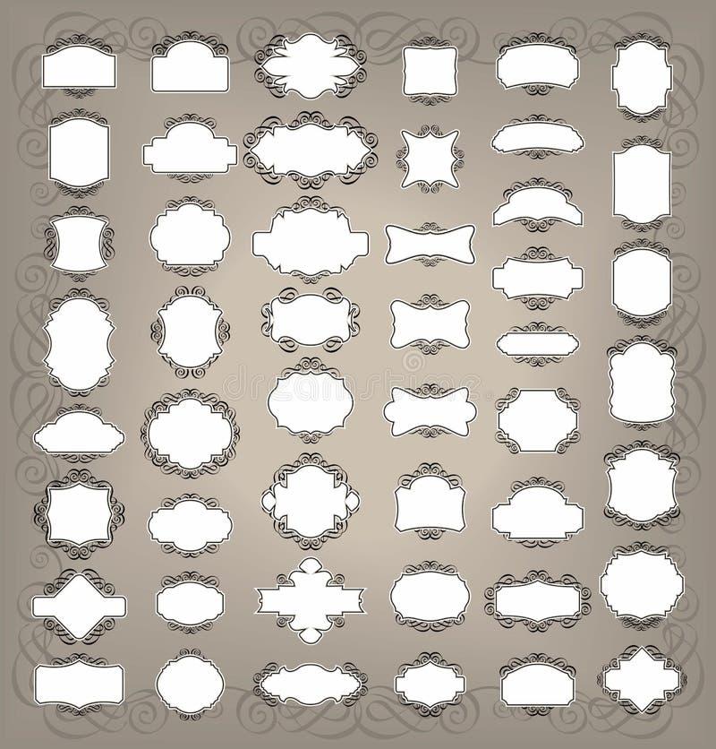 Rétro étiquettes illustration de vecteur