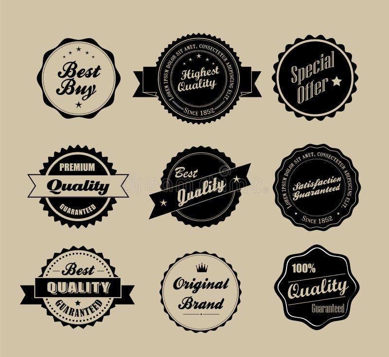 Rétro étiquettes de cru illustration libre de droits