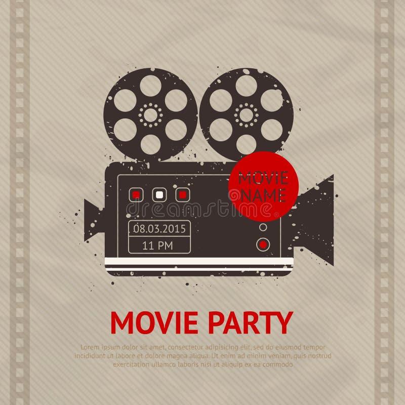 Rétro affiche de film illustration libre de droits