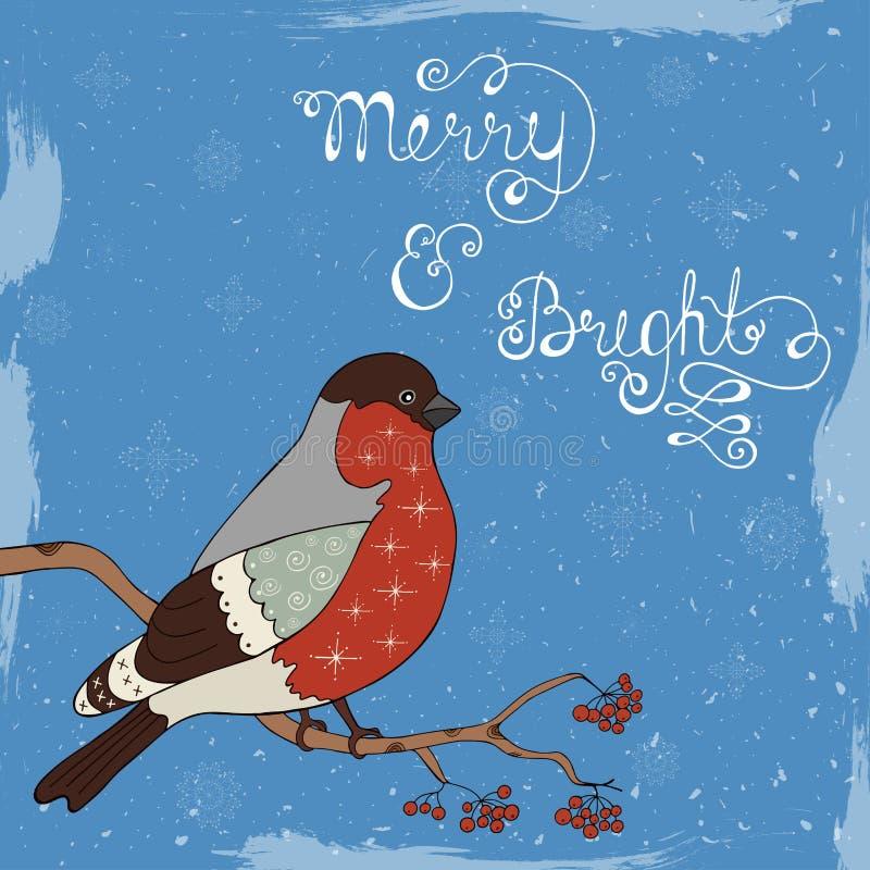 Rétro affiche de Joyeux Noël illustration stock
