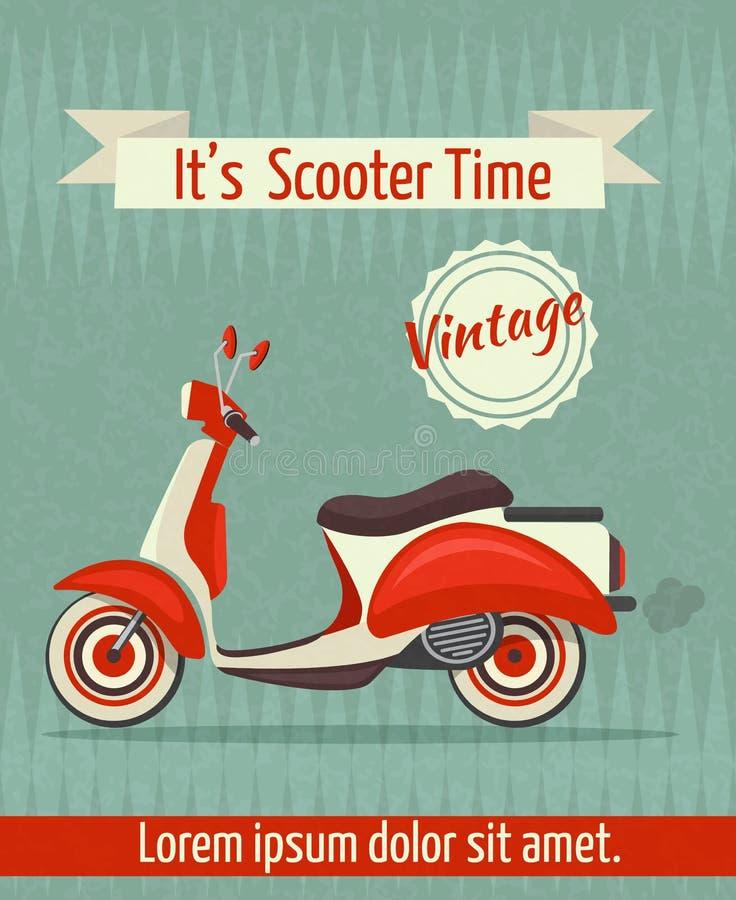 Rétro affiche de scooter illustration de vecteur