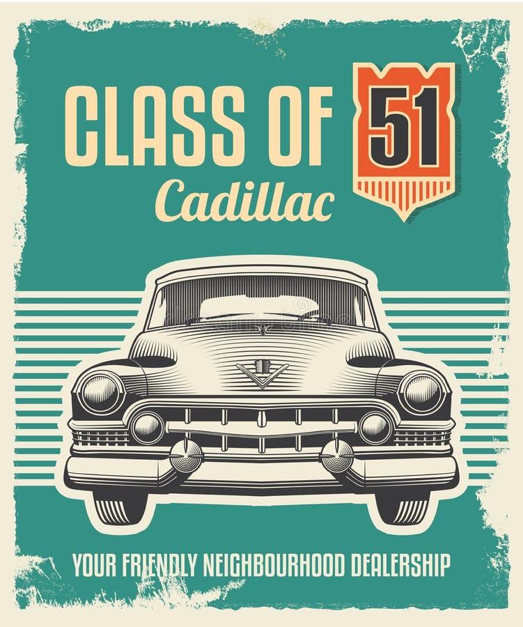 Rétro affiche de vintage - conception de signe en métal illustration de vecteur