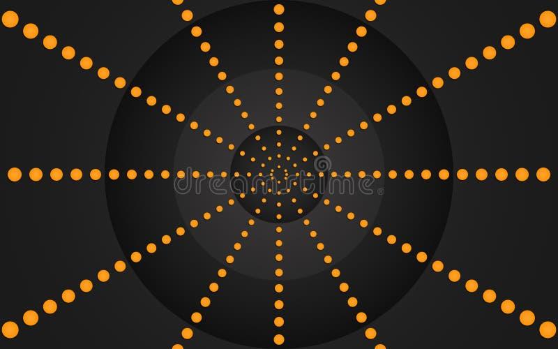 Rétro anneau des points oranges, conception graphique - papier peint illustration libre de droits