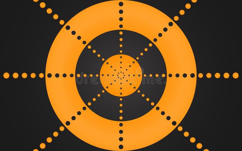 Rétro anneau des points oranges, conception graphique - papier peint illustration stock