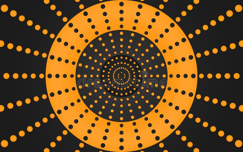 Rétro anneau des points oranges, conception graphique - papier peint illustration de vecteur