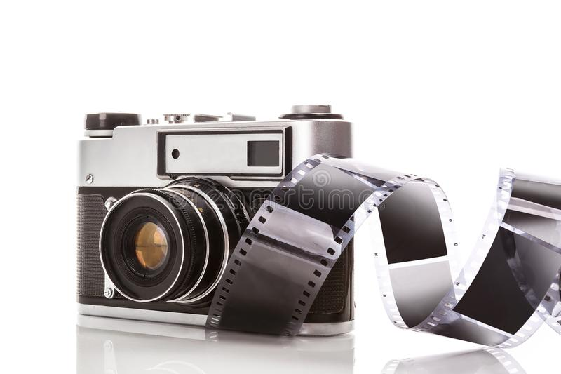 Rétro appareil-photo analogue photo stock