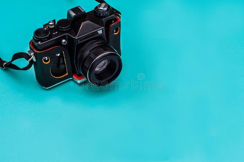 Rétro appareil-photo de film avec l'espace vide concept de course photos stock