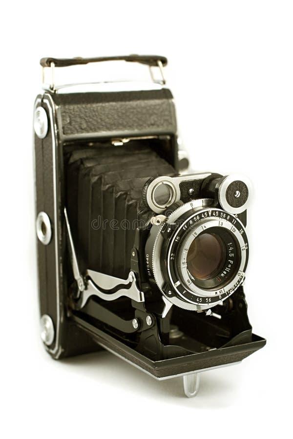 Rétro appareil-photo de pliage photographie stock libre de droits