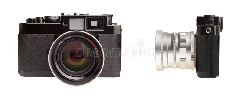 Rétro appareil-photo de télémètre image libre de droits