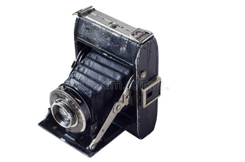 Rétro appareil-photo noir antique images libres de droits