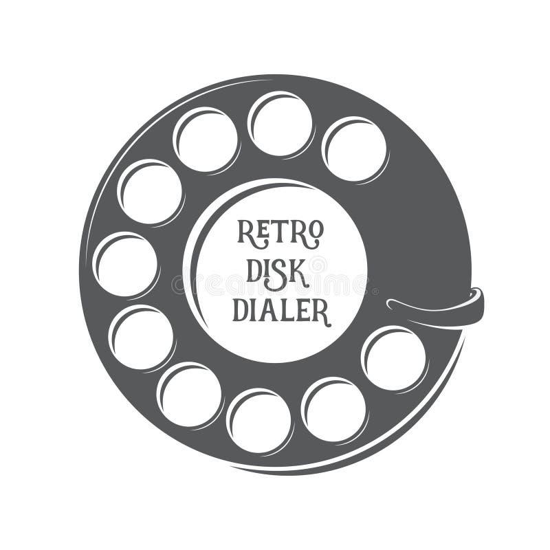 Rétro appeleur de disque de vecteur illustration stock