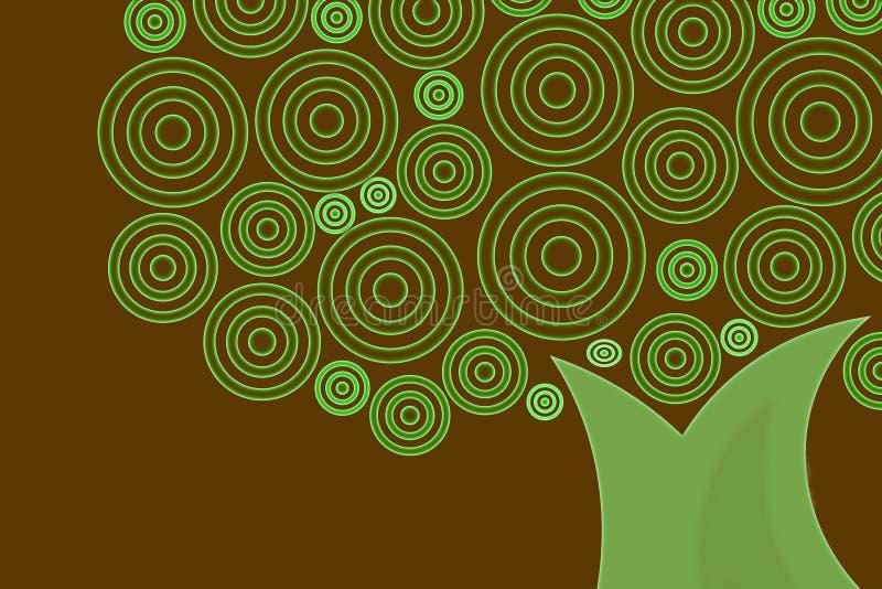 Rétro arbre illustration de vecteur