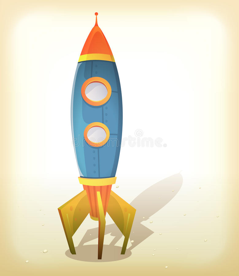 Rétro atterrissage de vaisseau spatial illustration libre de droits