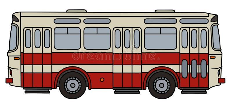 Rétro autobus de ville illustration stock