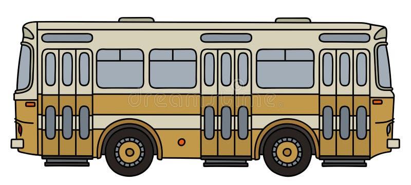 Rétro autobus de ville illustration de vecteur
