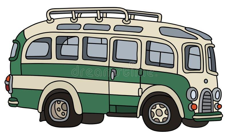 Rétro autocar drôle illustration stock
