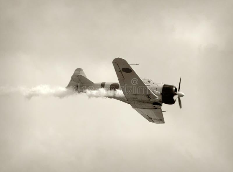 Rétro avion de chasseur image libre de droits