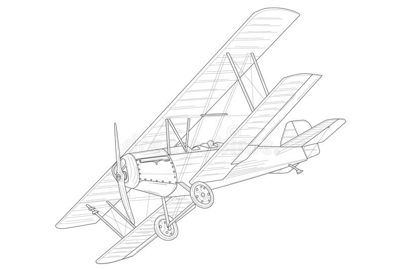 Rétro avion de vintage avec des contours illustration libre de droits