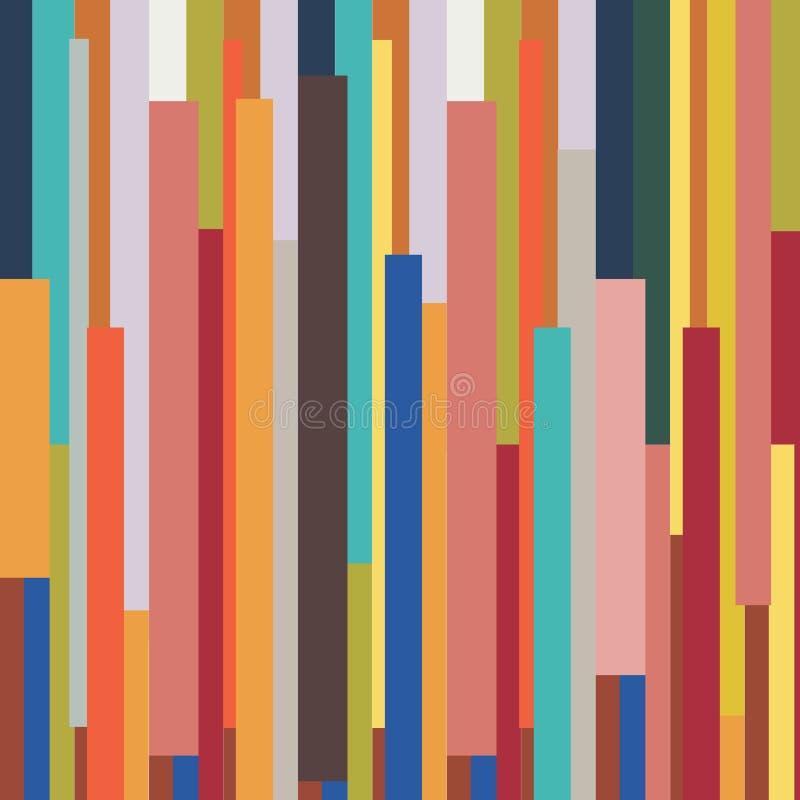 Rétro backgr de modèle de vintage coloré géométrique rayé abstrait illustration libre de droits